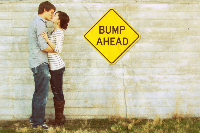 pregnancy-announcement-bump-ahead-road-sign